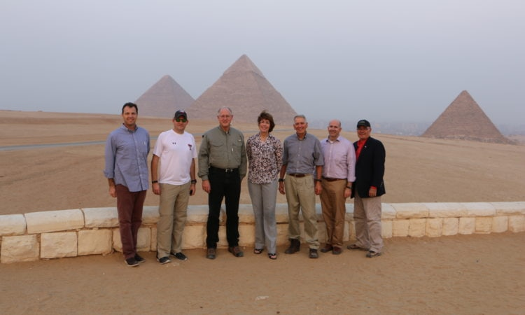 Members of the United States House of Representatives Michael Conaway (R-TX), Ralph Abraham (R-LA), and Gwen Graham (D-FL) visited Egypt October 16-18, 2016, meeting with senior Government of Egypt officials and touring projects.