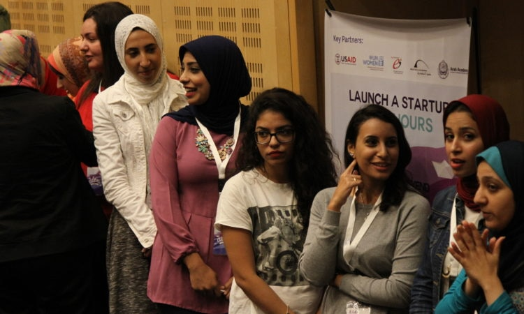 Aspiring women entrepreneurs as they learn to create business plans and present their ideas to potential investors