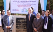 Ambassador Beecroft with Mamdouh Raslan, Chairman of Water Company; Governor Mohamed Badr; USAID Director Sherry Carlin