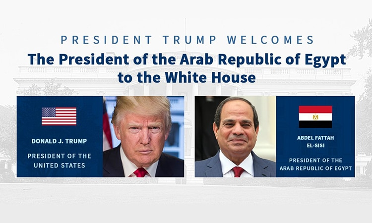 Image result for photos of Mr. Trump and President Abdel Fattah el-Sisi