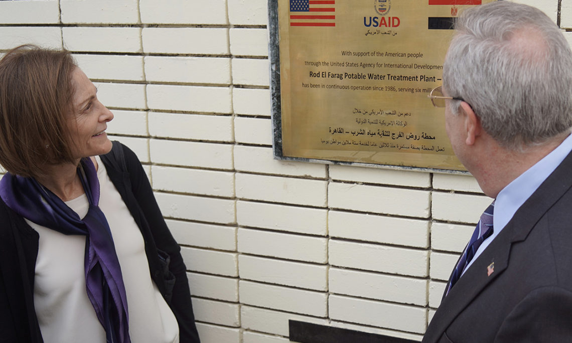 CDA and USAID Mission Director Observe Plaque Celebrating Rod AlFarag