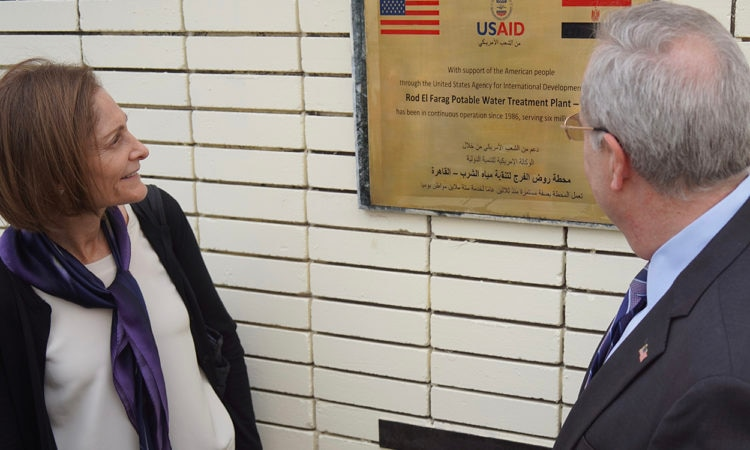 CDA and USAID Mission Director Observe Plaque Celebrating Rod AlFarag