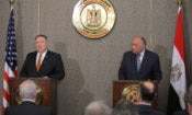 Secretary Pompeo with Egypt FM Sameh Shoukry at the MFA